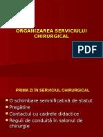 ORGANIZAREA SERVICIULUI CHIRURGICAL semestrul I