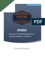 Plan de Gestión QUIERO 2015