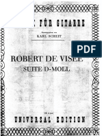 Robert de Visee - Suite in D Minor (Arr Scheit)