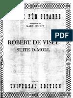 Robert de Visee - Suite in D Minor (Arr Scheit)