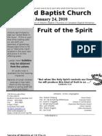 Bulletin Sunday, January 24 in Word