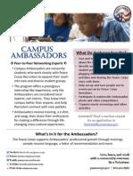 Peace Corps Flyer - Campus Ambassadors