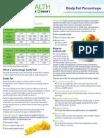 DIY Information Sheet Body Fat Percentage