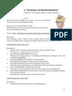 Symposium Dynamics of Insubordination - 2012 - Program