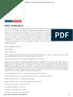 ORD. Nº0873_012 - Normativa Laboral. Dirección Del Trabajo