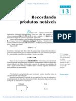 Aula 13 - Recordando produtos notáveis.pdf