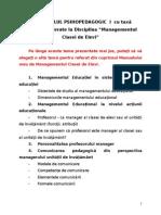 Teme Referate Managementul Clasei Elevi