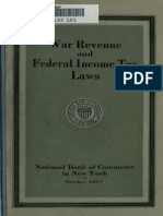 War Revenue and Federal Income Tax Laws