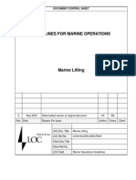 LOC Guidelines for Marine Operations - Lifting