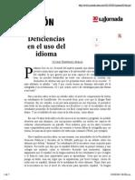 La Jornada_ Deficiencias en El Uso Del Idioma