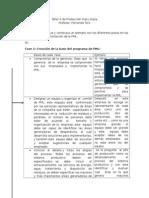Fases de Implementacion de La PML