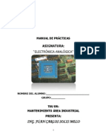 Manual de Practicas de Eléctronica Análogica(UTTN)