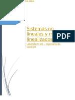 Sistemas No Lineales y Modelos No Linealizados