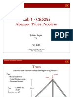 Lab 1- Truss Problem - CE529a