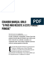 Eduardo Marçal Grilo _O País Não Resiste a Este Pingue-pongue_ - PÚBLICO