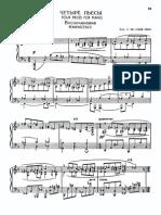 Prokofiev 4 pieces for piano