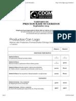 Tarifario de Precios de Diseño Gráfico - Colegio de Diseñadores Gráficos de Misiones