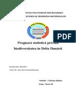 Prognoză Statistică Privind Biodiversitatea in Delta Dunării