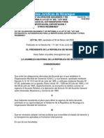 Ley No. 421 Ley de Valoracion Aduanera y de Reforma a La Ley 265