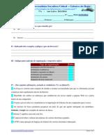 Teste TIC 7ºA 11-3-2014 Internet NEE