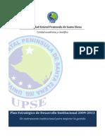 Plan estratégico de Desarrollo Institucional