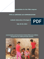 Communication and transmission between Moroccan children through their toy making and play activities