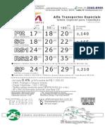 Tabela ALFA LDA 011106