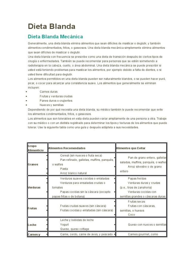 ejemplos de dietas blandas pdf