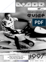 1997 SeaDoo XP (5662) Operator's Guide Supplement