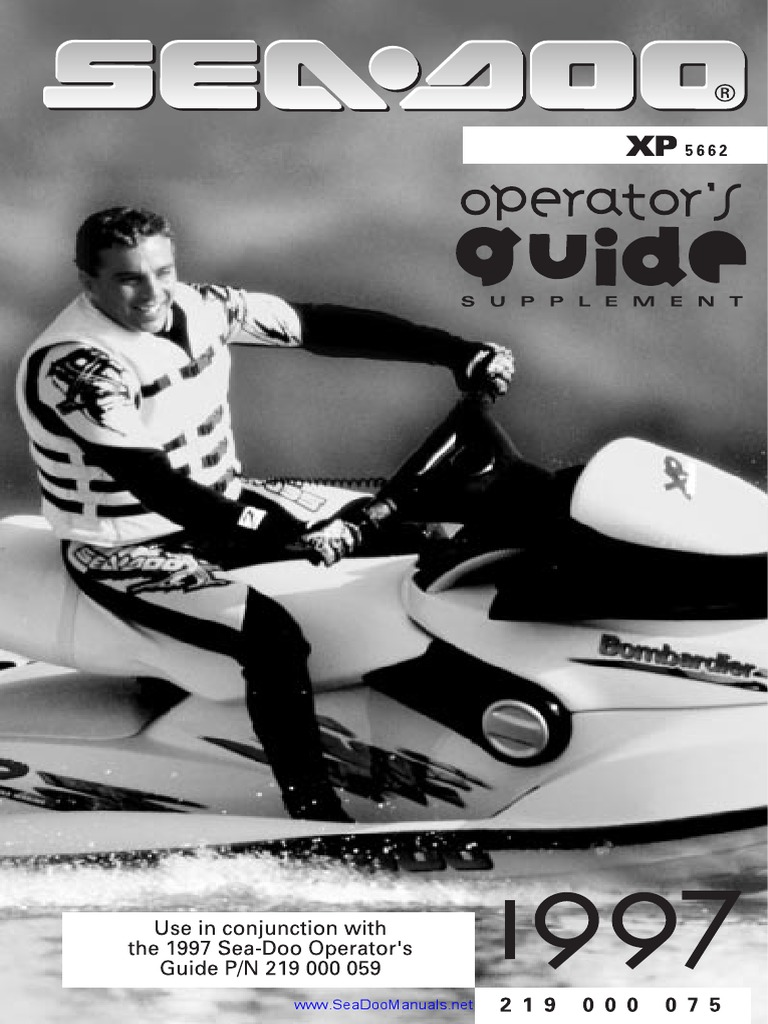 1997 SeaDoo XP (5662) Operator's Guide Supplement | Throttle | Carburetor