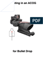 Sighting in ACOG Scope for Bullet Drop Compensation