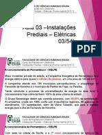 Aula 03 – Instalações Prediais - Elétricas