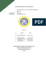 Setting time gipsum tipe II berdasarkan perbandingan w-p