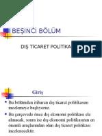 Bolum5 Dis Ticaret Politikasi