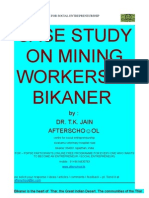 Case Study on Mining Workers in Bikaner