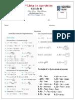 3ª Lista de Cálculo II