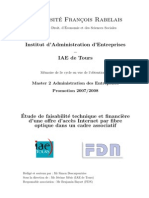 Memoire FTTH - Simon Descarpentries - M2 AE EPU 2007-2008 - IAE Tours
