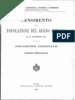 CENSIMENTO DELLA POPOLAZIONE DEL REGNO D'ITALIA AL 31 DICEMBRE 1881