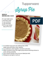 Tuppreware Maple Syrup Pie