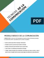 Técnicas de La Comunicación Presentacion
