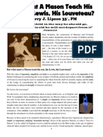 Masonry - What Must A Mason Teach His Son, His Lewis, His Louveteau?  by Barry J. Lipson 33°, PM