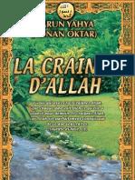 LA CRAINTE D'ALLAH