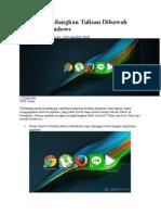 Cara Menghilangkan Tulisan Dibawah Shortcut Windows