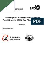 2014 UNIQLO Investigative Report Final 20150109