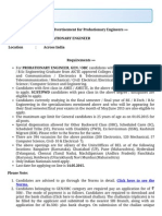 BEL India Details of Advertisement 2015