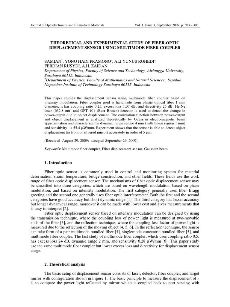 Jurnal | Optical Fiber | Sensor