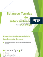 Intercambiadores de Calor Balance