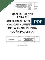 Manual Haccp Anticucheria Doña Panchita