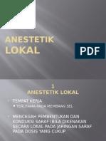 Anestetik Lokal