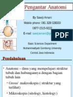 01-Kuliah Pengantar Anatomi